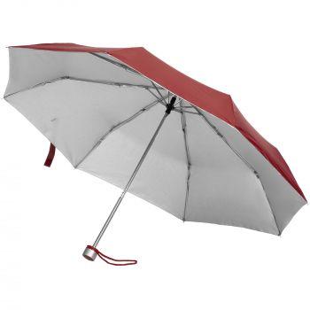 Зонт складной «Silverlake», бордовый
