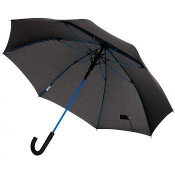 Зонт-трость с цветными спицами «Color Power», синий
