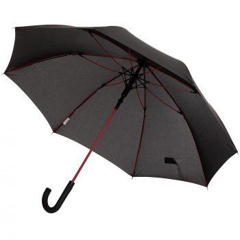 Зонт-трость с цветными спицами «Color Power», красный