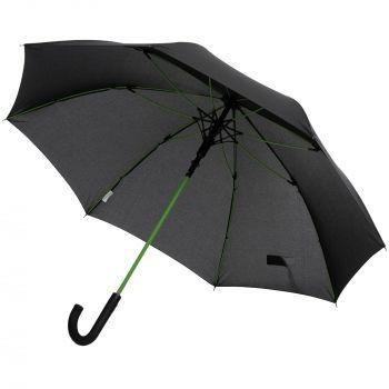 Зонт-трость с цветными спицами «Color Power», зеленый