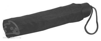 Зонт складной с пластиковой ручкой, механический, общий дизайн