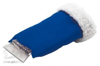 Скребок-варежка автомобильный, синий