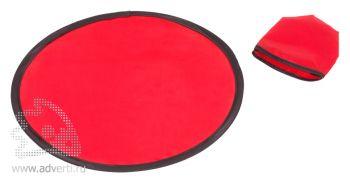 Тарелка летающая складная «Flying leap», красная