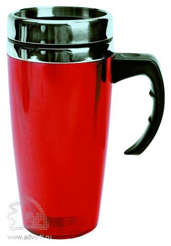 Кружка с термоизоляцией «Гляссе», красная