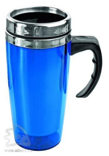 Кружка с термоизоляцией «Гляссе», синяя