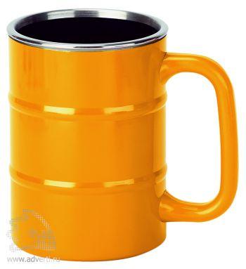 Кружка «Баррель», оранжевая