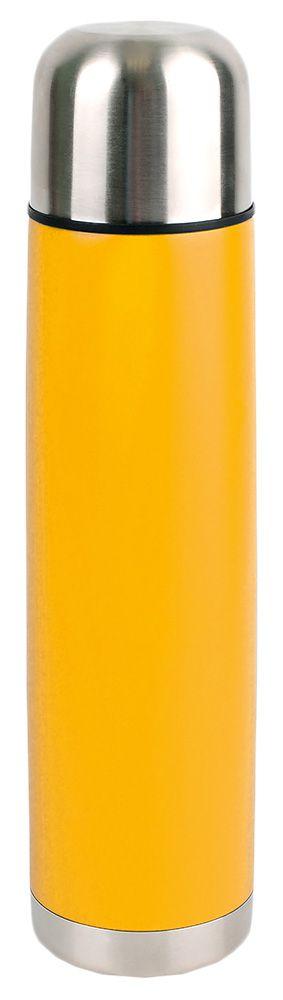 Термос «Вотерлоо» с серебристой крышкой, желтый