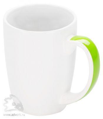 Кружка «Good Day» с цветной полосой на ручке, зеленая