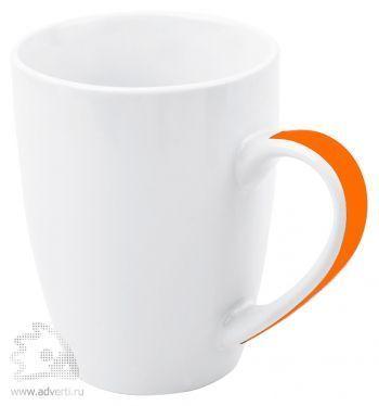 Кружка «Good Day» с цветной полосой на ручке, оранжевая