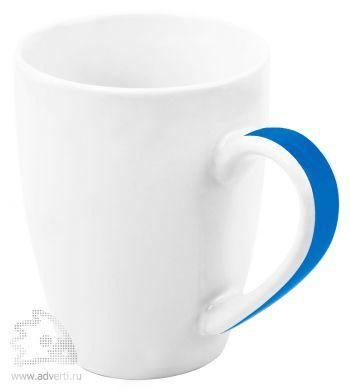 Кружка «Good Day» с цветной полосой на ручке, синяя