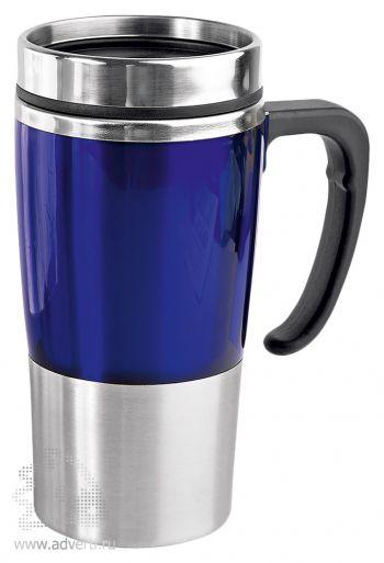 Кружка с термоизоляцией «Чаепитие», синяя