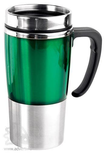 Кружка с термоизоляцией «Чаепитие», зеленая