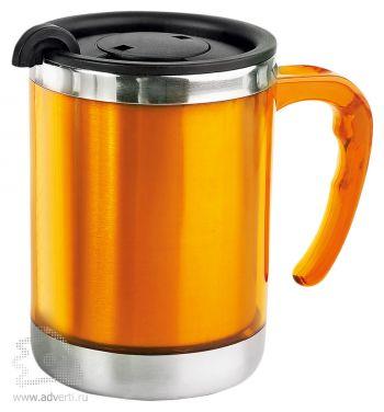 Кружка с термоизоляцией «Эвбея», оранжевая