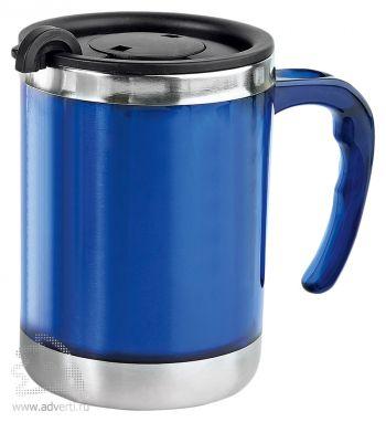 Кружка с термоизоляцией «Эвбея», синяя