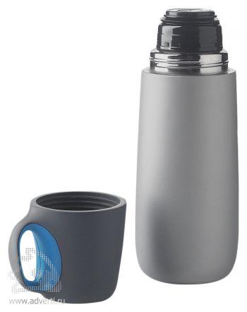 Емкость с карабином для питья «Альпинист», синяя, открытая