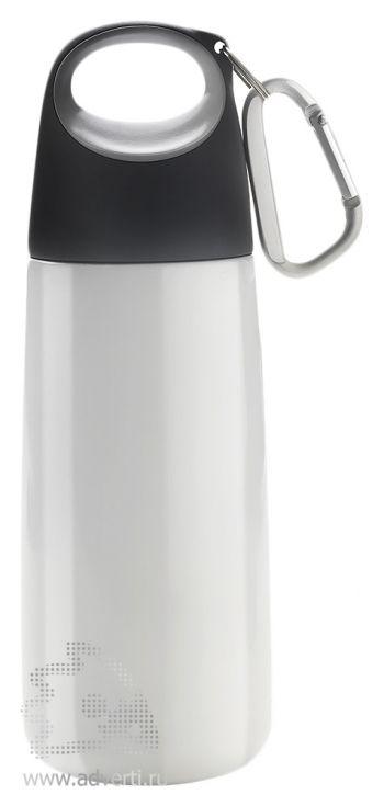 Емкость с карабином для питья «Альпинист», серебристая