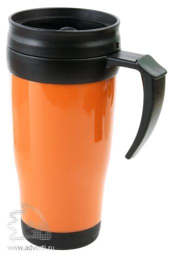 Термокружка «Silence», оранжевая