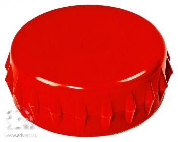 Складной стакан с открывалкой, внешний дизайн открывалки, красный