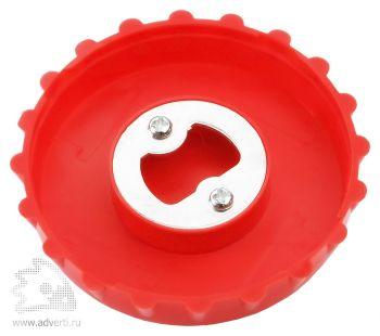 Складной стакан с открывалкой, внутренний дизайн открывалки, красный