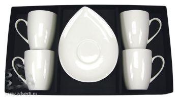 Набор «Кувшинка»: 4 чашки с блюдцами