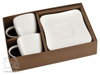 Набор: 2 чашки с блюдцами «Дебют» в коробке