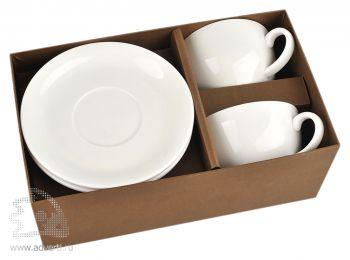 Набор: 2 чашки с блюдцами «Дабл» в коробке