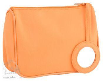 Косметичка с зеркалом «Стефани», оранжевая