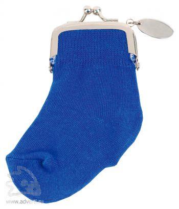 Кошелек-носок с шильдом «Инвестиционный портфель», синий