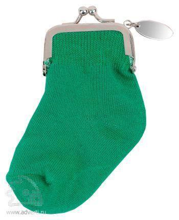 Кошелек-носок с шильдом «Инвестиционный портфель», зеленый