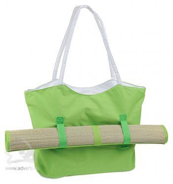 Пляжный набор: сумка и циновка, светло-зеленый