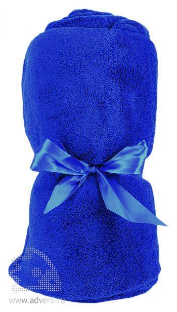 Плед «Уют» в чехле, синий