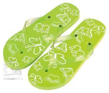 Шлепанцы из пляжного набора «Тропики», светло-зеленые