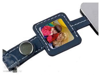 Ремешок для мобильного телефона с рамкой для фото, крупный план