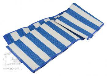 Циновка пляжная «Южный ветер», синяя, разложенная