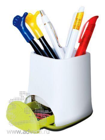 Подставка для ручек «Эко» с отделением для скрепок