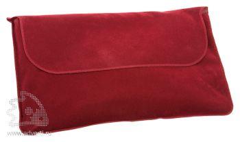 Подушка надувная «Сеньос», бордовая в чехле