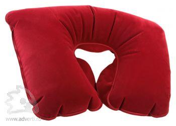Подушка надувная «Сеньос», бордовая