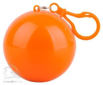 Дождевик «Универсал» в футляре с карабином, оранжевый
