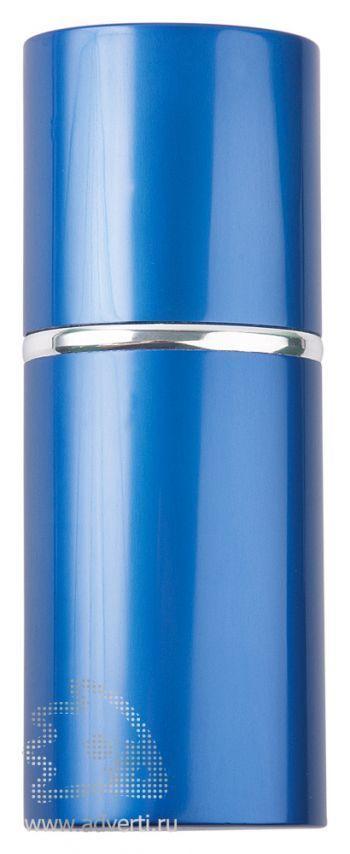 Маникюрный набор «Агата» в алюминиевом тубусе, синий, в закрытом виде