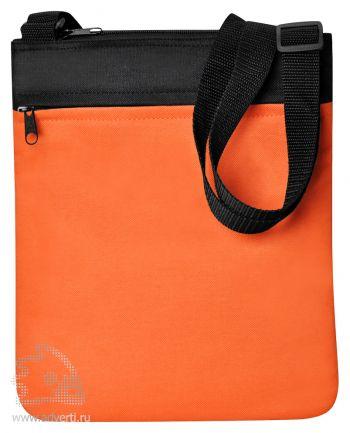 Промо сумка на плечо «Simple», оранжевая