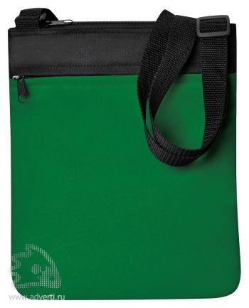Промо сумка на плечо «Simple», зеленая