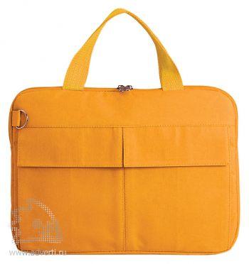 Конференц-сумка «Тодес» с отделением для ноутбука, оранжевая