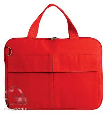 Конференц-сумка «Тодес» с отделением для ноутбука, красная