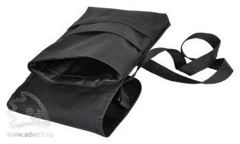 Cумка «Casual» с ремнем на плечо, черная