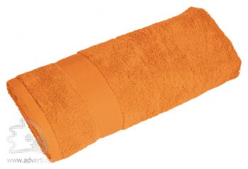 Полотенце махровое «Банный день», оранжевое