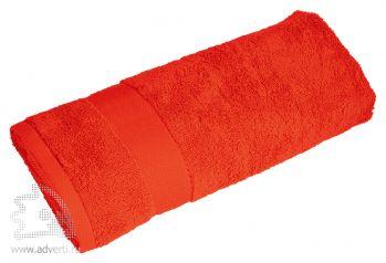 Полотенце махровое «Банный день», красное