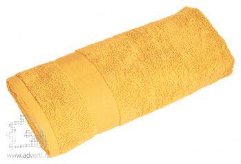 Полотенце махровое «Банный день», желтый