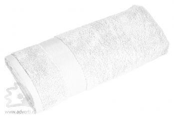 Полотенце махровое «Банный день», белое
