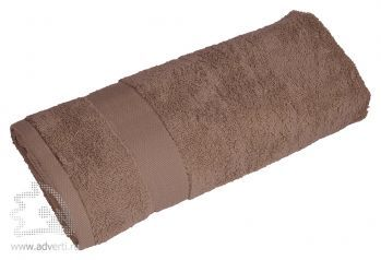Полотенце махровое «Банный день», бежевое