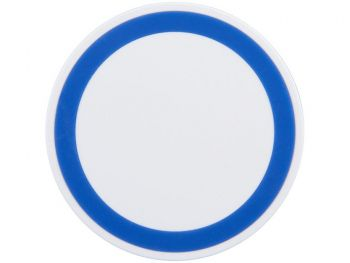 Устройство для беспроводной зарядки, синее, вид сверху